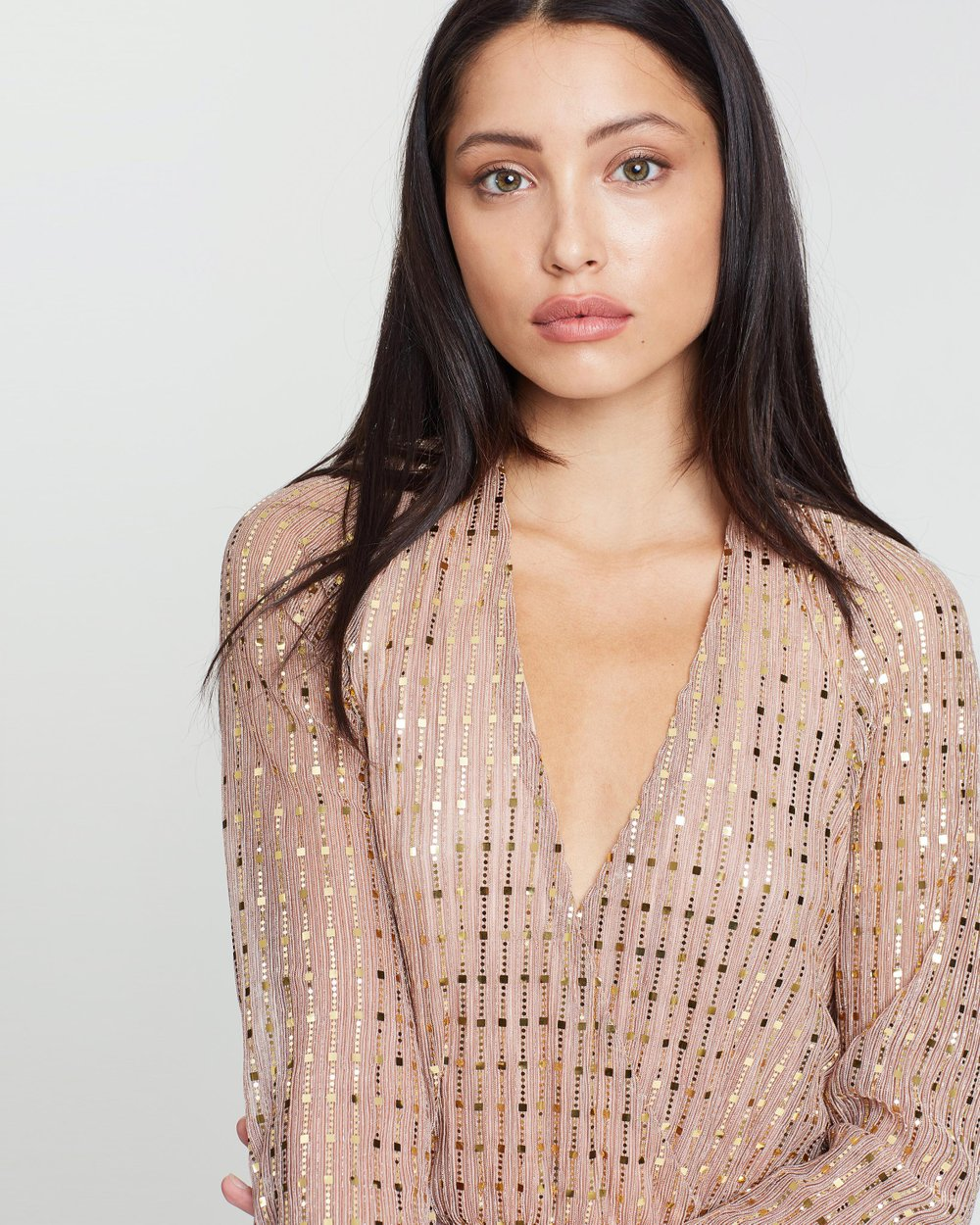 31f67e40 Sequin Plunge Bodysuit by Missguided Online | THE ICONIC | Australia