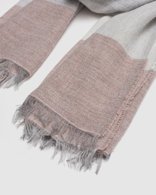 Kate & Confusion Check Scarf - Scarves & Gloves (Pink)