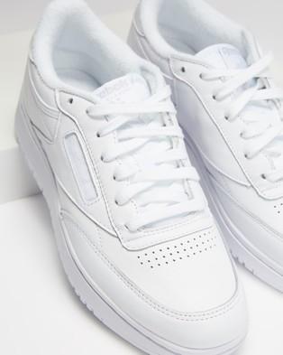 Reebok Club C Double   Women's - Lifestyle Sneakers (White, White & Cold Grey)