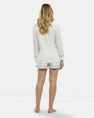 DREAM WITH ME Classic White Pyjama Short Set - Two-piece sets (White)