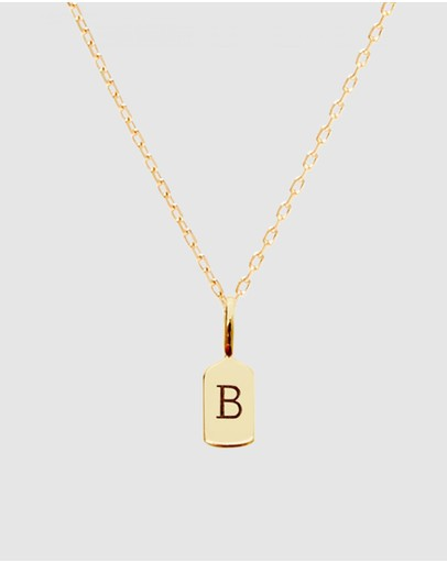 Luna Rae Solid Gold - The Letter B Necklace