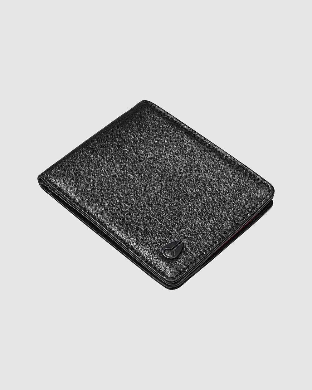 Nixon Cape Leather Wallet Wallets Black