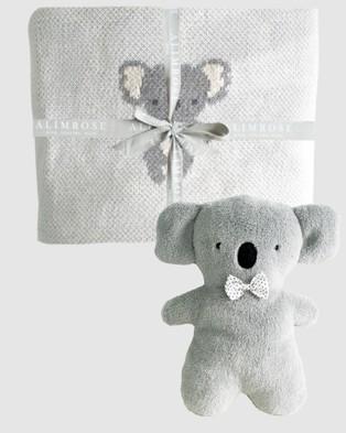 Alimrose Organic Koala Baby Blanket Set - Blankets (Grey)