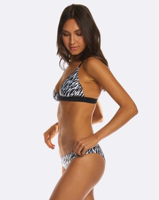 RH Swimwear – Cheeky low riser Zebra Black/white