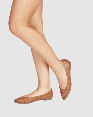 Sandler Leah - Ballet Flats (COGNAC)