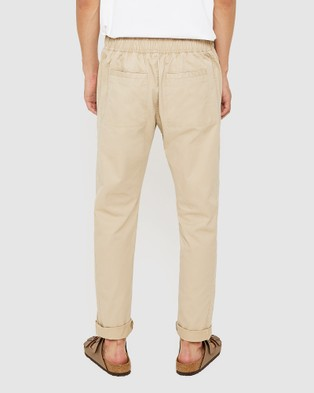 Jag The Relaxed Cotton Pants - Pants (stone)