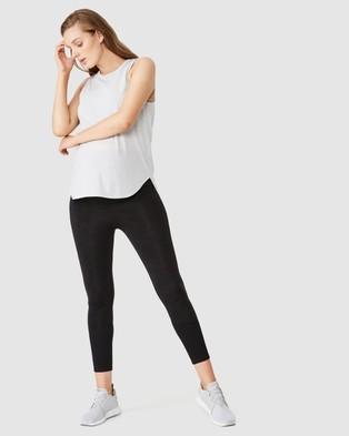 Cotton On Body Active Maternity Active Curve Hem Tank Top - Maternity Singlets (Grey Marle)