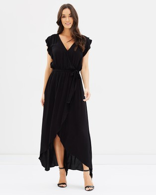 Decjuba – Bethany Wrap Maxi Dress Black