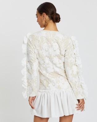 Loreta Italian Lace Dress - Dresses (White)