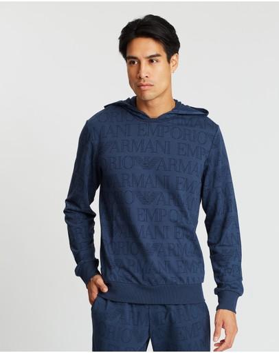 Emporio Armani Lounge Sweatshirt Printed Blue
