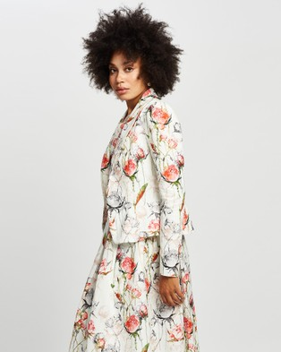 Pink Ruby Sienna Jacket - Coats & Jackets (Print)