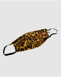 Ford Millinery - Brown Cheetah Fabric Face Mask