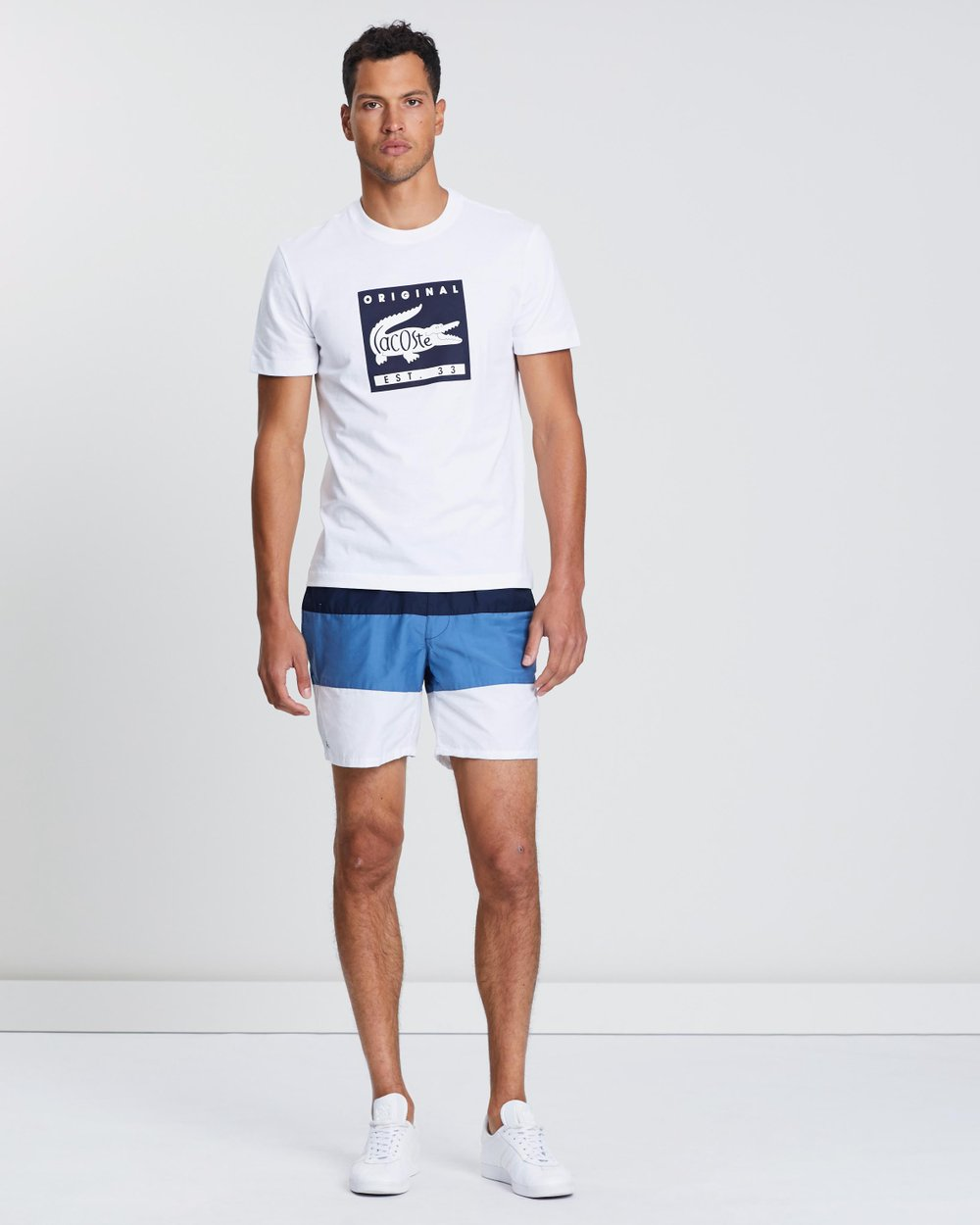 61b4b77295f5ad Colour Block Swim Shorts by Lacoste Online