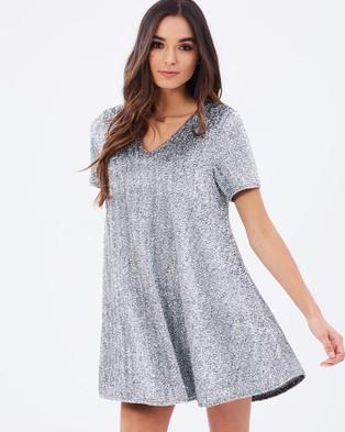 ebonie n ivory – Glitter Mousse Dress – Dresses (Silver)