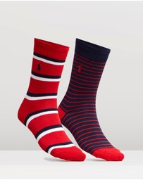 Polo Ralph Lauren - 2-Pack Repp Striped Socks