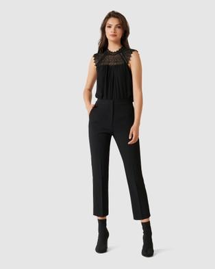 Forever New Piper Straight Leg Pants - Pants (Black)