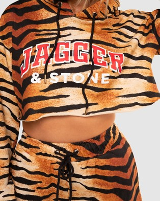 Jagger & Stone Coco Cropped Hoodie - Hoodies (Tiger Print)