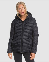 Roxy - Womens Coast Road Water Resistant Hooded Jacket