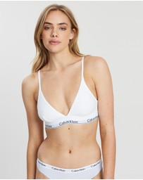 Calvin Klein - ​Ribbed Unlined Triangle Bra