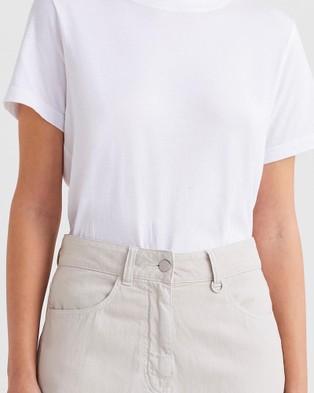 Jac + Jack Verte Tee - T-Shirts & Singlets (White)