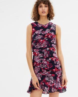 CAMILLA AND MARC – Grenadine Ruched Mini Dress Grenadine Print