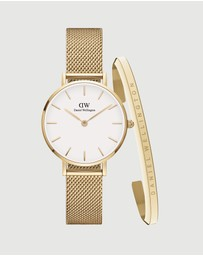 Daniel Wellington - Petite Evergold 28mm + Bracelet S Gift Set