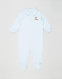 Polo Ralph Lauren - Embroidered Interlock Coverall - Babies