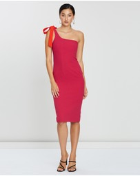 BY JOHNNY. - One-Shoulder Midi Dress