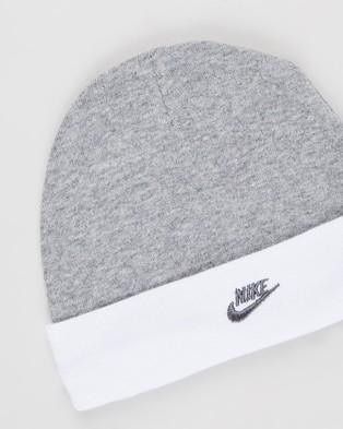 Nike Futura Logo Boxed Set Babies Headwear Dark Grey Heather