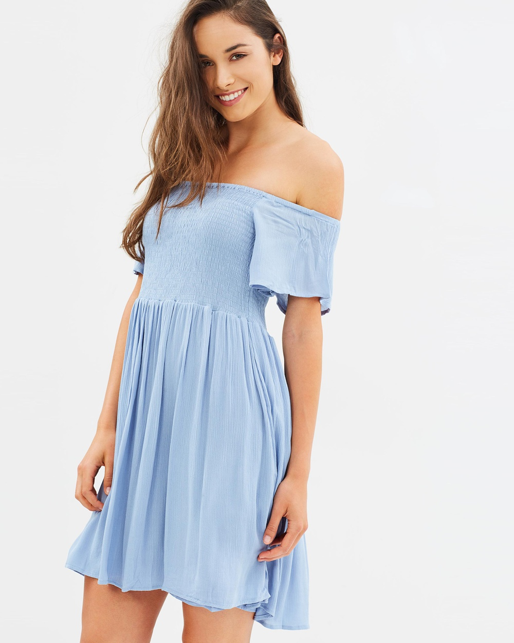 Sass Renata Shirred Bust Dress Dresses Blue Renata Shirred Bust Dress