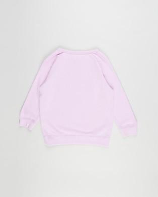 Cotton On Kids - License Mila Crew Sweatshirt Sweats (License Smiley Rainbow Wink & Pale Violet)