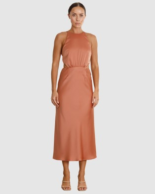 Pasduchas Stellar Cut Out Midi - Dresses (Caramel)
