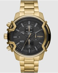 Diesel - Griffed Gold-Tone Chronograph Watch