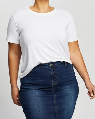 Love Your Wardrobe Jamison Everyday Tee - T-Shirts & Singlets (White)