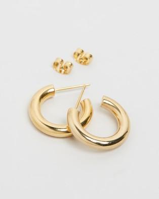 Carly Paiker Rozita Hoops - Jewellery (Gold)