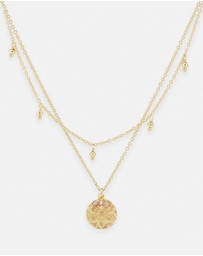 By Charlotte - Eternal Harmony Gold Pendant Necklace