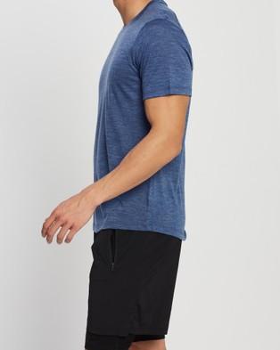 Icebreaker Cool Lite?äó Merino Sphere Short Sleeve Crewe T Shirt - Short Sleeve T-Shirts (Estate Blue Heather)