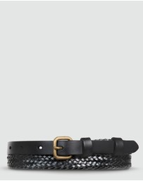 Status Anxiety - Only Lovers Left - Black Plaited Belt ML