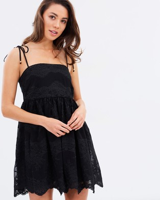 Shona Joy – Antigua Baby Doll Mini Dress Black