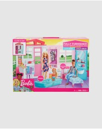 Barbie - Barbie House with Furniture and Accessories Playset