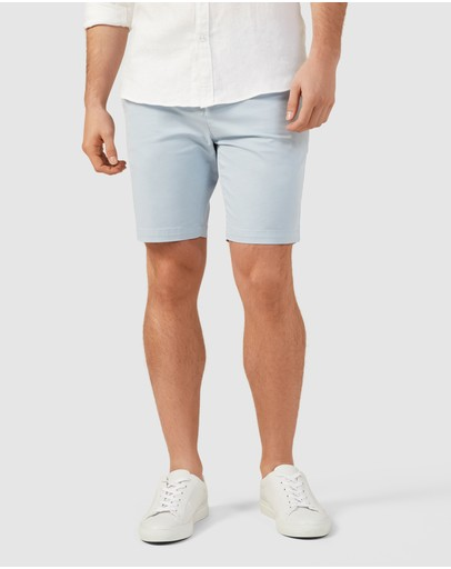French Connection Slim Fit Stretch Chino Shorts Pale Blue