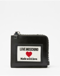 LOVE MOSCHINO - Canvas PU Zip-Around Wallet