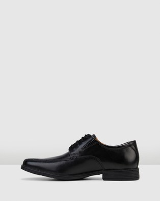 Clarks Tilden Walk - Dress Shoes (Black Leather)