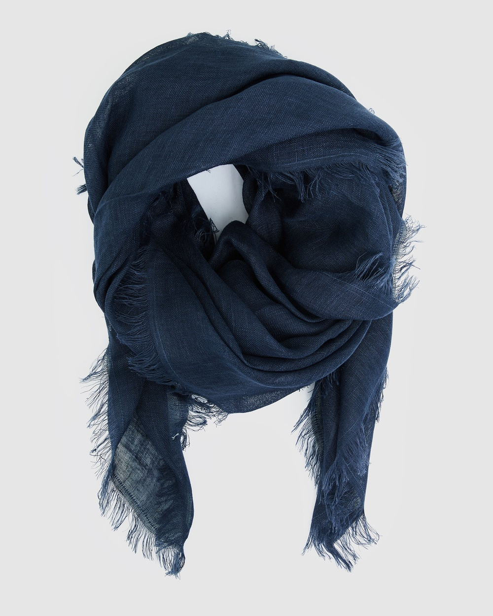 Cloth & Co. Hand Loomed Linen Scarf Scarves Gloves French Navy