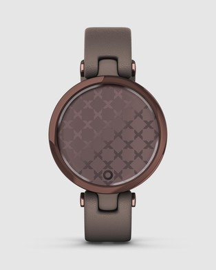 Garmin Lily   Classic Edition - Fitness Trackers (Dark Bronze Bezel with Paloma Case and Italian Leather Band)