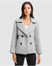 Belle & Bloom - I'm Yours Wool Blend Peacoat