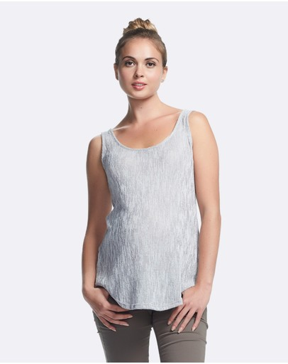 Soon Maternity Thia Knit Singlet Grey