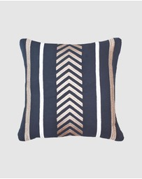 Bandhini Design - Arrow Stripe Navy Lounge Cushion