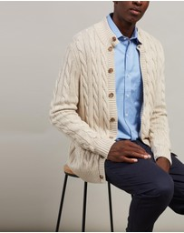 BROOKS BROTHERS - Mock Neck Cardigan