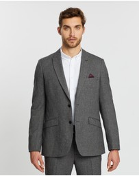 Burton Menswear - Birdseye Slim Fit Suit Jacket